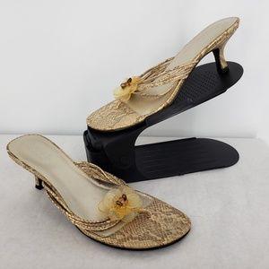 Seychelles Snake Print Kitten Heel Thong Sandal